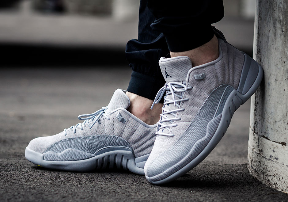 online store af1da b09e1 Nike Air Jordan 12 Low Wolf Grey - On Feet Look - Sneaker Myth