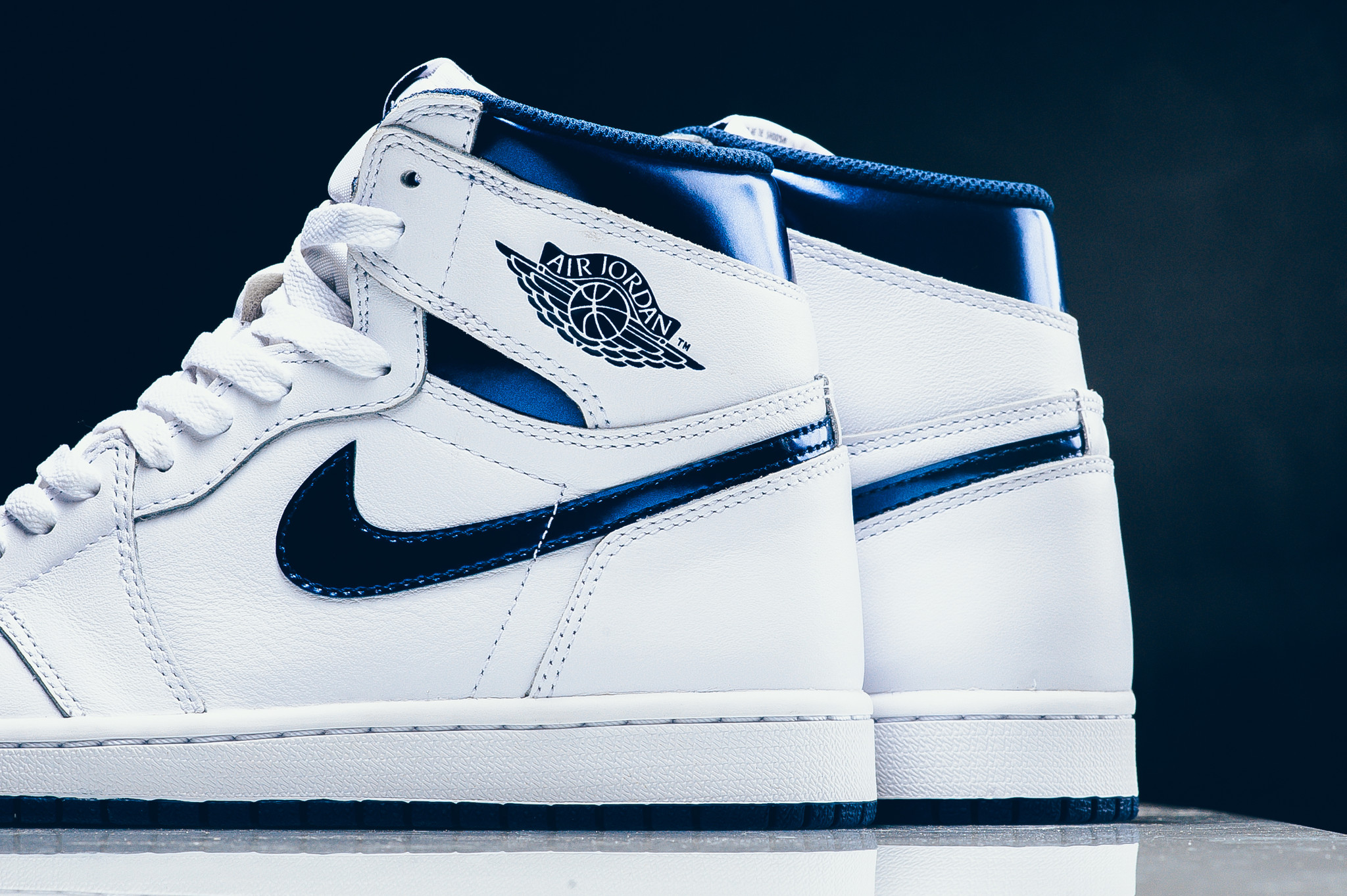 85df4f115bd ... Air Jordan 1 High OG Metallic Navy hot sale 2017 Top Sneakers On Sale  at Offspring!