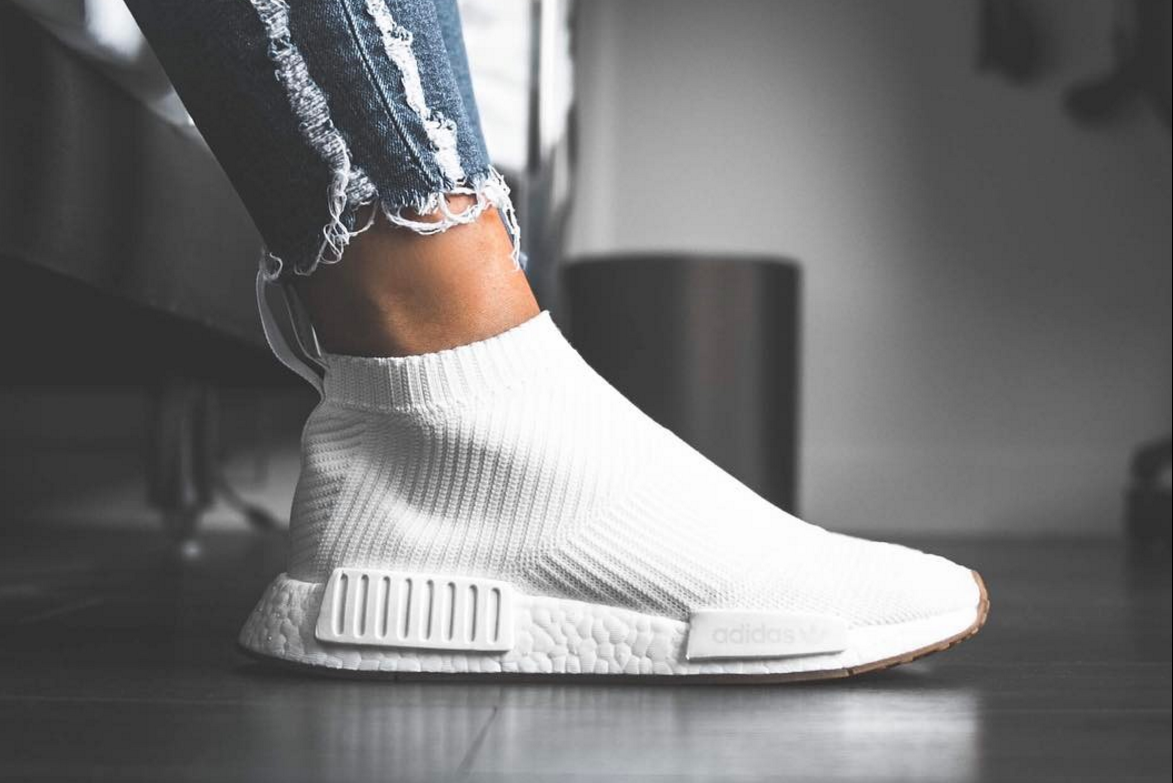 adidas NMD_CS1 PK White / Gum - On Feet