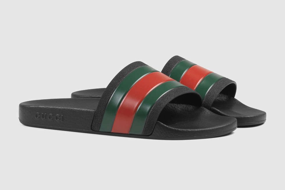"081f1ccf3 Gucci Pool Slides have been very popular in last few seasons after the  popular Future track ""Thought It Was A Drought"" due to the lyrics ""I just  f   ed your ..."