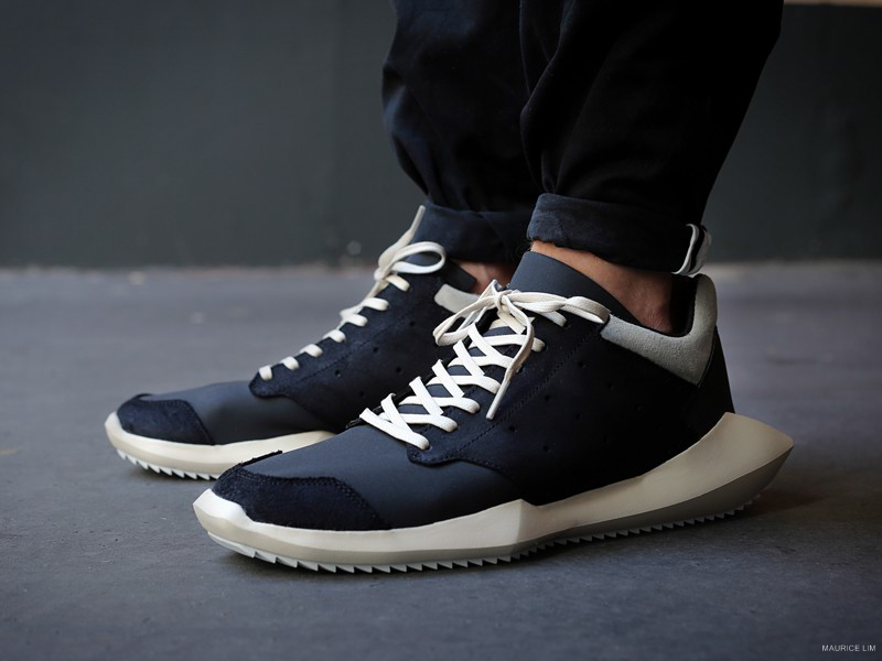 """bf89f9baf42 The second round of the Rick Owens x adidas partnership—tying into the F W  2014 """"MOODY"""" collection—featured the Tech Runner. While it shares a similar  ..."""
