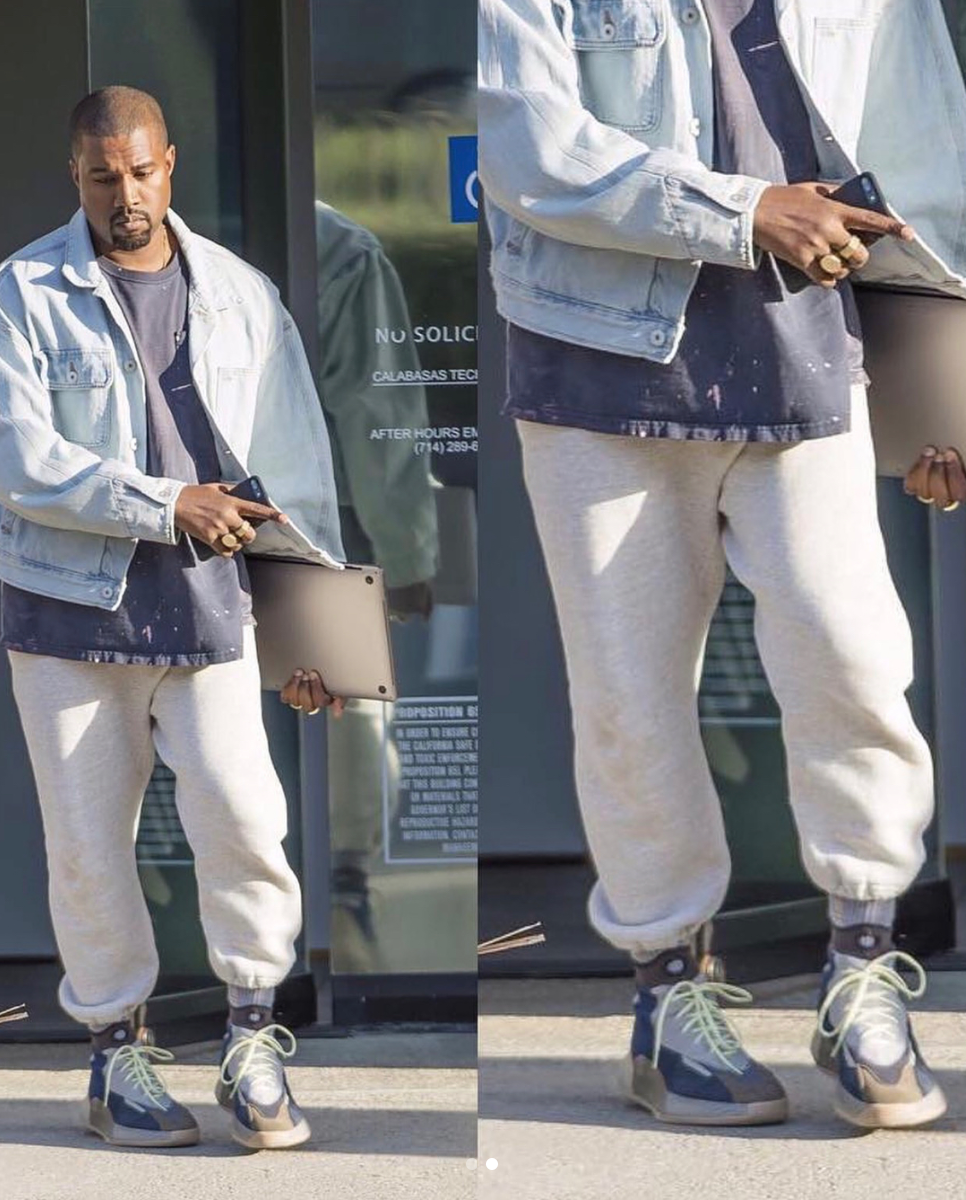 reputable site 61c45 3b8e6 Kanye Spotted Wearing New Yeezy? - Sneaker Myth