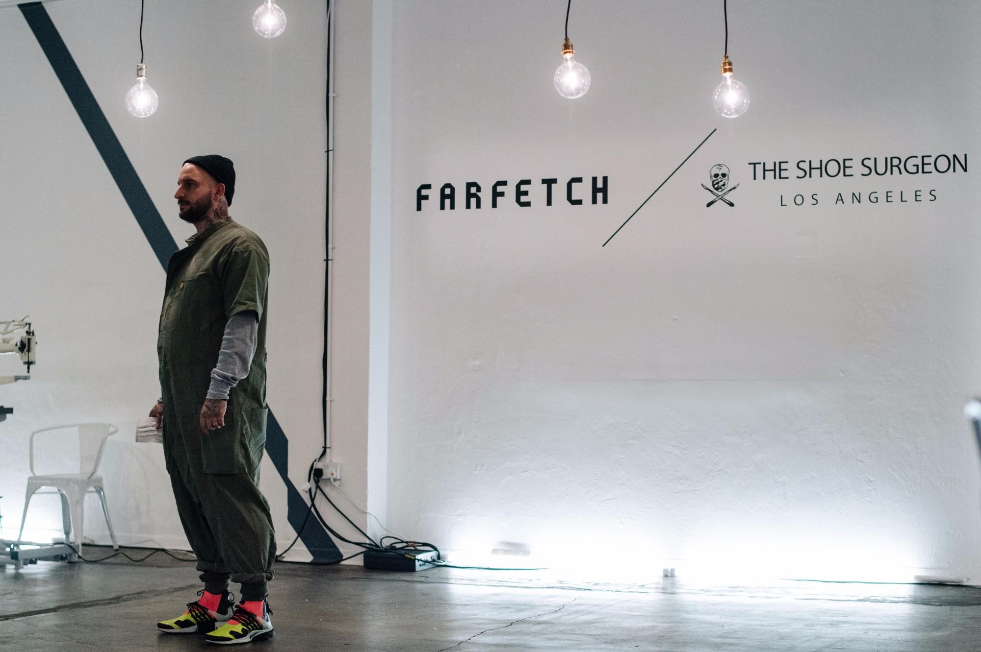 The Farfetch X The Shoe Surgeon Workshop Sneaker Myth