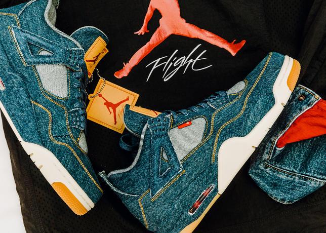 size 40 987ea 10398 Air Jordan 4 x Levi's Retro 'Blue Denim' - Sneaker Myth