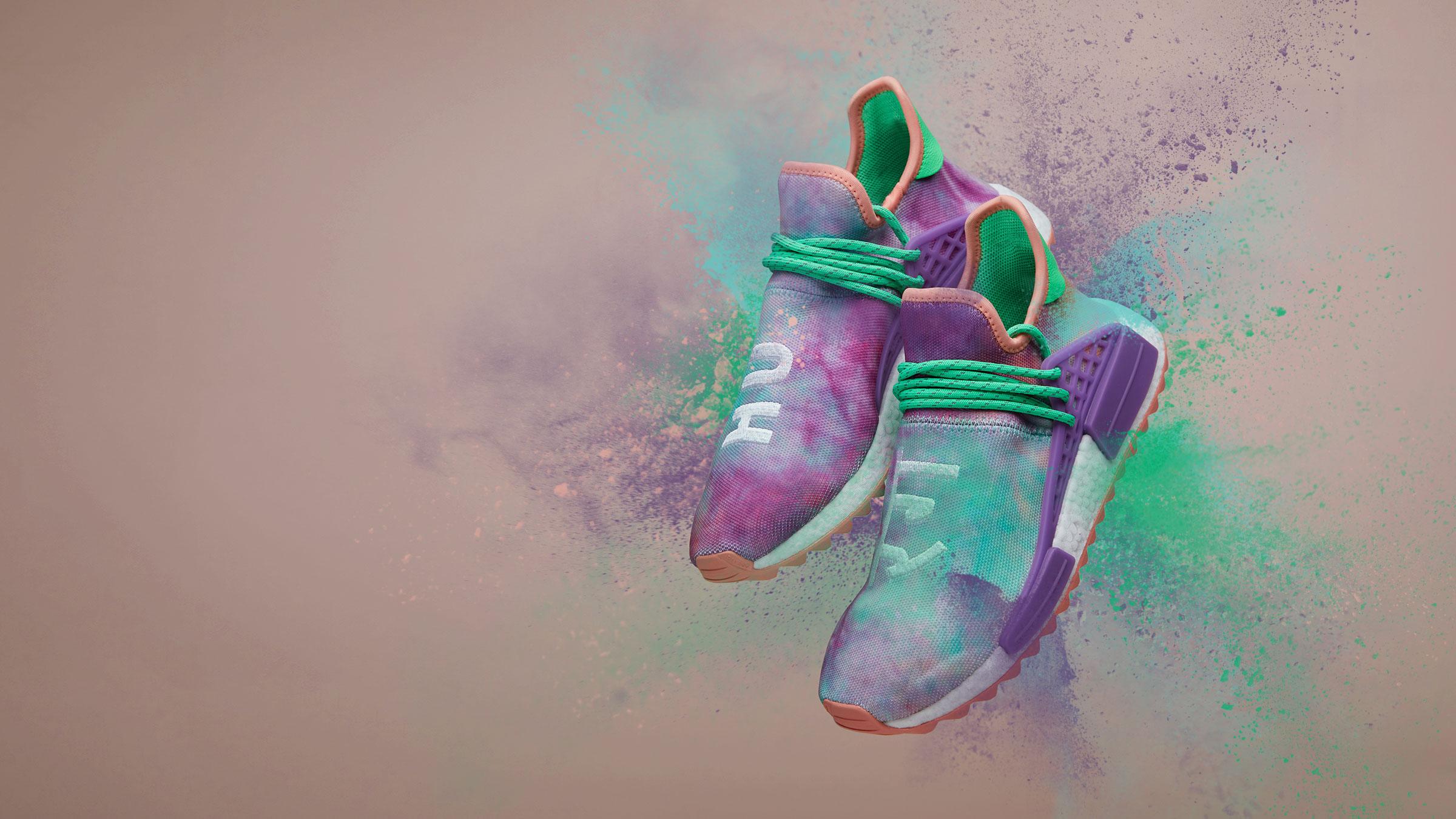 newest cfdb9 6ab74 adidas Originals x Pharrell Williams HU NMD Trail 'Holi Pack ...