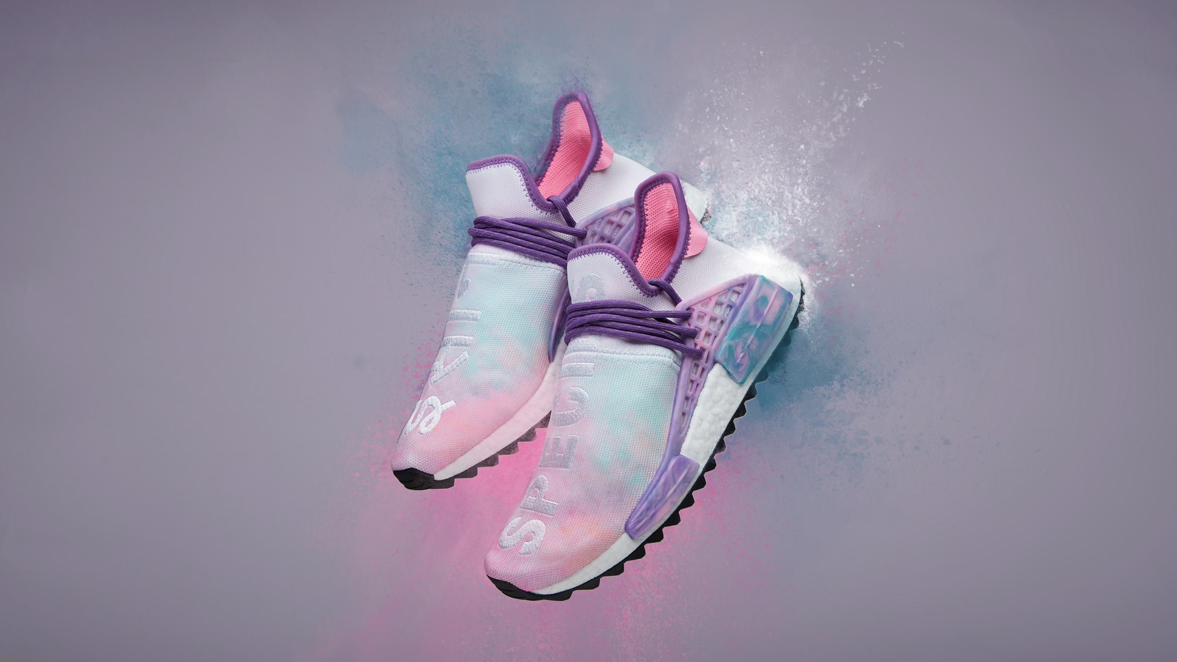 01c2b8157de246 Adidas-Originals-x-Pharrell-Williams-HU-Holi -NMD-Trail-MC-Pink-Glow-Powder-Dye-1