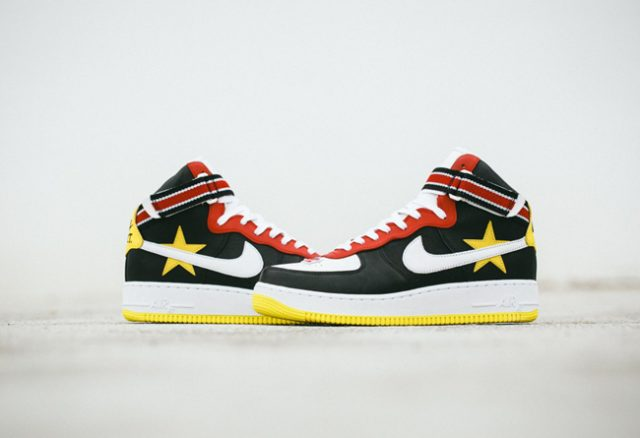 outlet store f82cf 5c10b The basketball-inspired NikeLab Air Force 1 High x RT Men s Shoe pays  homage to the hardwood s elite athletes. The all-leather upper features OG  patterning, ...