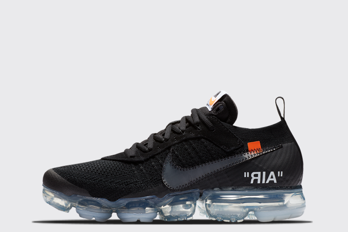 Off-White x Nike Air VaporMax Flyknit 'Black'