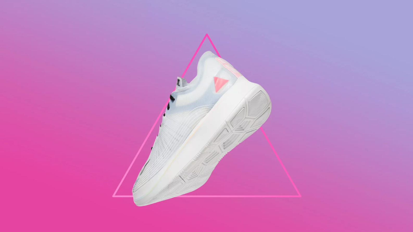 57c5b4c821523 The symbols on the Nike BETRUE Zoom Fly – the pink triangle and the classic  rainbow – are partly inspired by race-car decals.