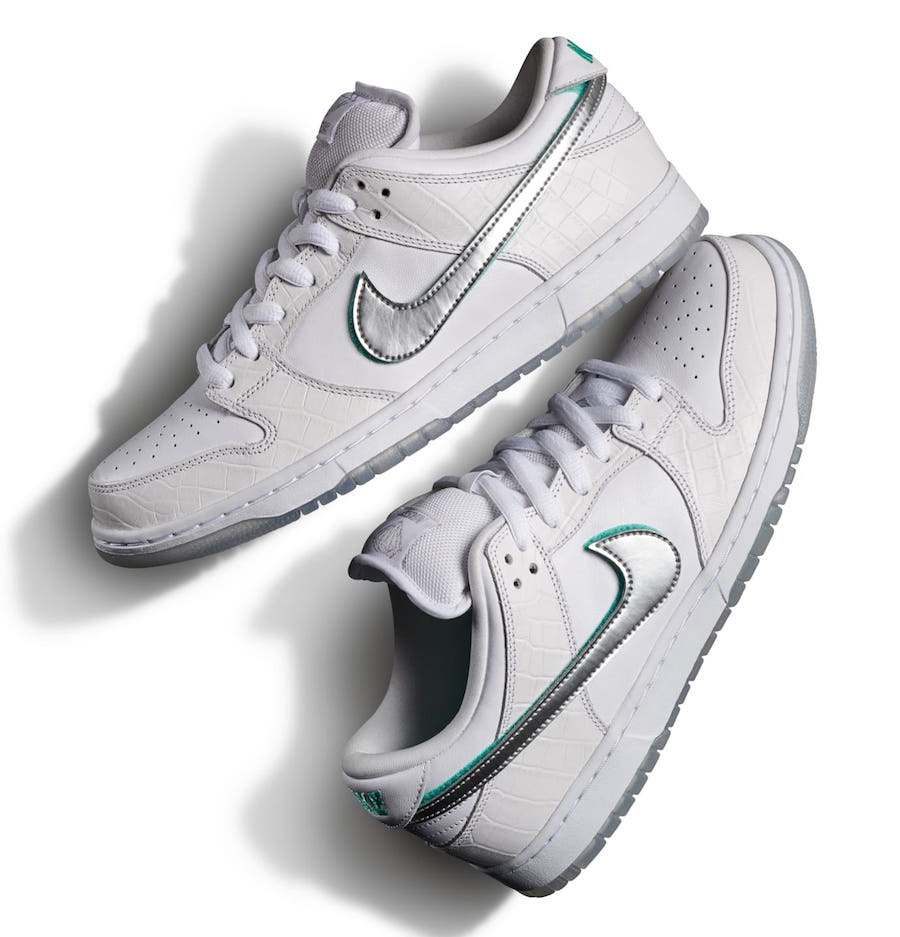 various styles buy best best website Diamond-Supply-Co-Nike-SB-Dunk-Low-White-Release-Date-2 ...