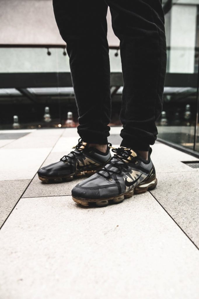 9b7c2515cb8c4 To finish off the full Air unit of the VaporMax is dressed in Metallic Gold  for the perfect look for your New Years Eve party!