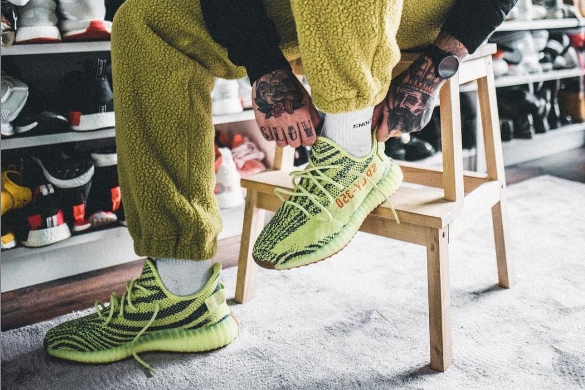 release date run shoes new style adidas Yeezy 350 V2 'Semi Frozen Yellow' - Raffle List ...