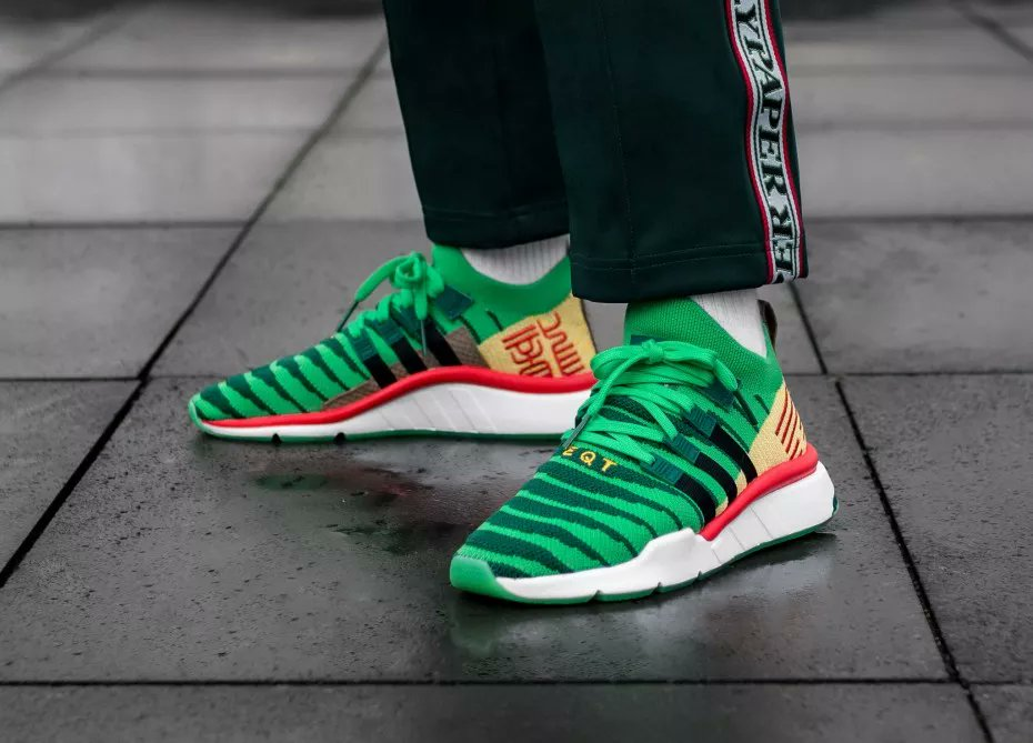 0193cd19256564 ... Dragonball Z s most epic battle scenes. These EQT trainers are  dedicated to Shenlong. The sock-like adidas Primeknit upper has a texture  inspired by ...