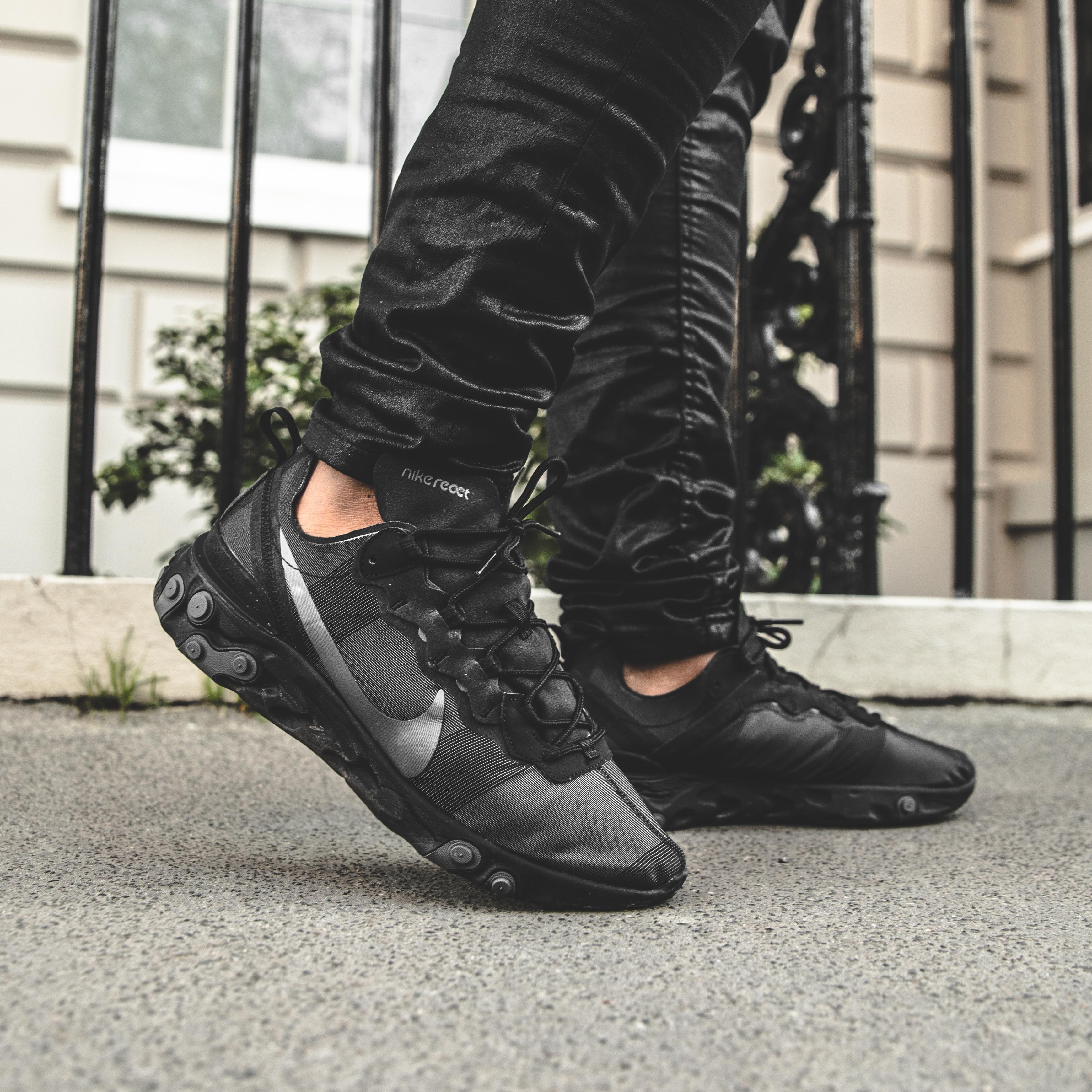 5775083d92c MYTHFOCUS  Nike React Element 55  Black  - Sneaker Myth