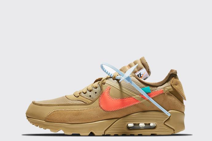 Off White X Nike Air Max 90 Desert Ore Sneaker Myth